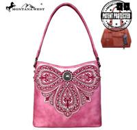 Concealed Carry CCW Gun Montana West Embroidered Handgun Handbag Pink Purse