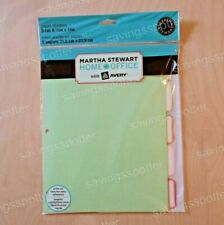 Martha Stewart Home Office Avery Paper Dividers 5 Tab 8 12 X 11 85