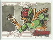 Upper Deck Avengers Age Of Ultron Vison Color Sketch by Joshua Werner
