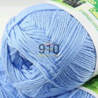 Sale New 1 Ball x 50g Super Soft Bamboo Cotton Baby Hand Knitting Crochet Yarn A