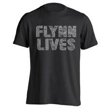 Flynn Lives Retro Funny Tron Gamer Humor Movie Black Basic Men's T-Shirt
