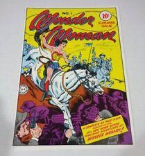 Vintage original 1978 golden age Wonder Woman 1 DC Comics cover art pinup poster
