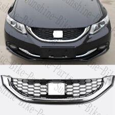 1PCS For Honda Civic 2013-15 Car Front Bumper Cover Grid Upper Trim Grille Frame
