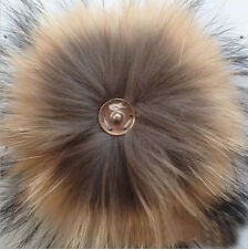 1PCS Real Raccoon Fur Pom Pom Ball Button for Mobile Strap Bag #94020