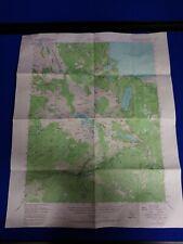 Vintage Map Of Fallen Leaf Lake Quadrangle California 1962
