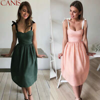 Women Summer Casual Sleeveless Evening Party Cocktail Beach Short Mini Dress