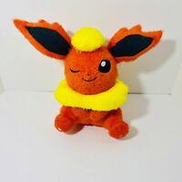"Flareon Eevee Japanese Exclusive Kraneking Stuffed Plush 17"" Nintendo Pokémon"