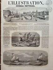 """LA ILUSTRACIÓN 1858 NO 825 HUNDIMIENTO DE LA CLIPPER FRANCÉS """""""