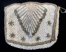 Vintage BELGIUM BEADED PURSE Hand Bag clutch very nice art deco
