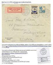 NED INDIE  1928-11-3  CV  KIRASAN-LONDON  SPEC GEMAAKTE  LP STROOK  LEES!! F/VF