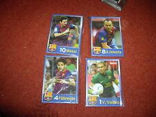 Deportes Candy PLC Barcelona 4 juego de tarjetas incluso Messi