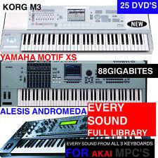 The BEST AKAI MPC5000 MPC2500 MPC1000 MPC500 SAMPLES BUNDLE M3,XS,& ANDROMEDA