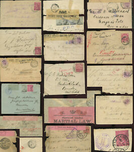 BERMUDA PoW 1901-2 BOER WAR Covers +Fronts Parts Postmarks censors ..EACH PRICED