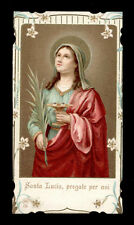 antico santino cromo-holy card S.LUCIA V.M. ediz. AR n.135