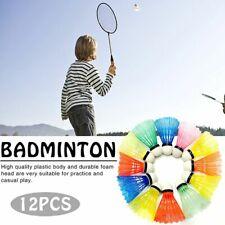 12pcs Colorful Shuttlecock Plastic Training Badminton Balls Outdoor Sports US