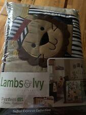 New Lambs & Ivy 4 Piece Crib Bumper Set For Baby Crib Yoo-Hoo Collection safari