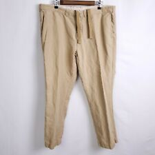 VTG Polo Ralph Lauren Mens 40x30 Military Nautical Drawstring Linen Pants A73