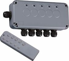 Knightsbridge Remote Controlled IP66 Weatherproof Outdoor Switch Box 5 Gang