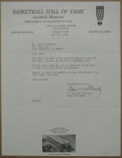 Dallas Shirley signed autographed OFFICIAL HOF letter - NBA referee auto (COA)