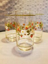 3 Strawberry Sundae 14 oz Glasses by Corelle/Corning