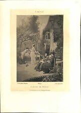 Fleurs de Péché dans le jardin avec M. l'abbé de Pierre-Marie Beyle GRAVURE 1902