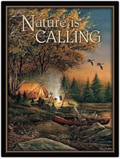 Nature is Calling Magnetic Metal Sign Terry Redlin Evening Solitude Wild Wings
