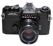 ASAHI PENTAX ES CAMERA- BLACK W/SMC TAKUMAR 55MM F/1.8  LENS  FROM JAPAN