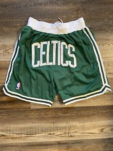 Boston Celtics Summer City Green Old School Basketball Team Shorts M-XL