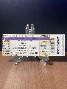 Audioslave & Nickelback Concert Ticket Unused Vintage October 22 2005 Houston