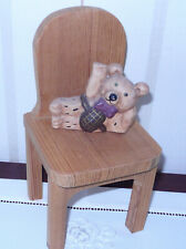 Puppenstuhl Holz Stuhl für Puppen/Teddybär, Stuhlhöhe ca. 24 cm