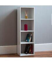 White Cube 4 Tier Wooden Bookcase Bookshelf Storage Shelf Unit Display Stand