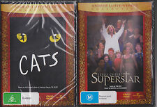 2 x DVD's Cats (DVD, 1999) & Jesus Christ Superstar DVD Andrew Lloyd Webber