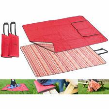 PEARL 2er-Set 3in1-Multi-Picknickdecken mit Sitzkissen & Zudecke, 150x130 cm