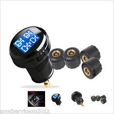 Car TPMS Tire Pressure LCD Digital Monitoring System Wireless 4 Sensors PSI Unit