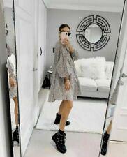 H&M CONSCIOUS  FLORAL A LINE COTTON DRESS SIZE SMALL