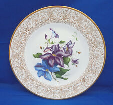 """Dinner Display Plate Boehm FLOWERS OF THE WORLD Clematis LE Helen Signature 10"""""""