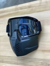 Motorcycle Open Face Helmet Mask, with goggles