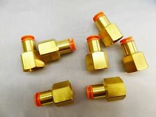 SMC Brass Connectors  KQ2F11-37 Lot of 7