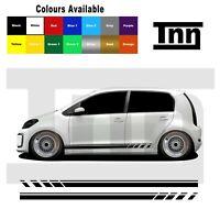 Side Stickers Stripes Vinyl Graphics Decals For VW Up! UP Skoda Citigo Seat Mii