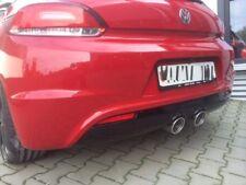 Sportauspuff Heckschürze Diffusor Auspuff Scirocco r32 VW R Heckansatz R-line