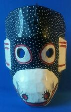 """Carved Wood Monkey Mask - Unknown Origin 8 1/2"""" High"""