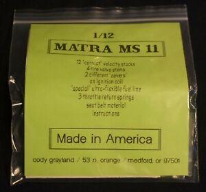 Tamiya Matra MS11 1/12 Scale Detail Set