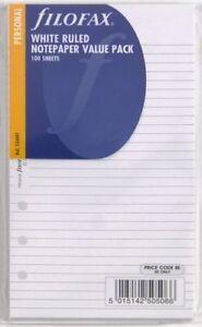 Filofax Einlage Personal: linierte weiße Notizblätter (100 Blatt) 133047