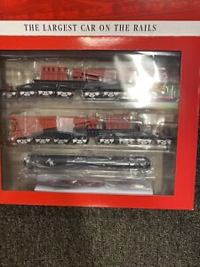 Bachmann 80513 HO Schnabel Car with Load Red & Black New In Box! Spectrum 380Ton