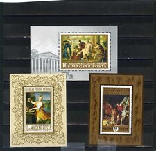 HUNGARY PAINTINGS SMALL COLLECTION SET OF 3 S/S MNH