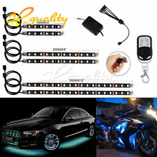 6Pcs LED Multi-Color Neon Atmosphere Light Flexible RGB For Motorcycle Car