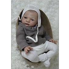 Reborn Kits DIY Blank Soft Vinyl Head 3/4 Limbs Realistic Lifelike Doll Kits NEW