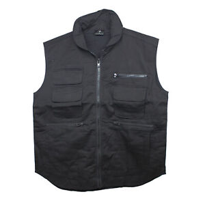 Ranger Vest - Poly Cotton - Black - available in sizes S - XL - Army & Military
