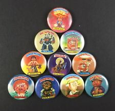 "Garbage Pail Kids 1"" Button Pin Lot Adam Bomb"