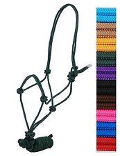 DRAFT HORSE SIZE Nylon Adjustable YELLOW Rope Halter & 8 Foot Lead New Tack